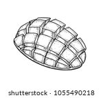 mango fruit vector set.... | Shutterstock .eps vector #1055490218