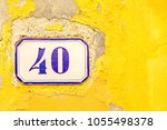 numbered tile on a wall | Shutterstock . vector #1055498378