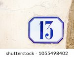 numbered tile on a wall   Shutterstock . vector #1055498402