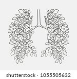 healthy lungs concept vector... | Shutterstock .eps vector #1055505632