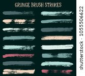 modern watercolor daubs set ... | Shutterstock .eps vector #1055506622