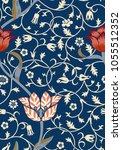 vintage floral seamless pattern ... | Shutterstock .eps vector #1055512352