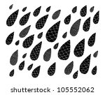 raindrops   black on white | Shutterstock .eps vector #105552062