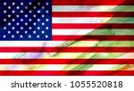 usa flag textured united stats... | Shutterstock . vector #1055520818