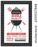 barbecue poster  flyer ...   Shutterstock .eps vector #1055527868