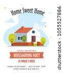 housewarming party invitation...   Shutterstock .eps vector #1055527886