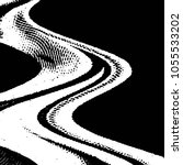 grunge halftone black and white ... | Shutterstock . vector #1055533202