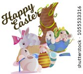 set of easter chocolate egg...   Shutterstock . vector #1055533316