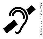 hearing loss symbol | Shutterstock .eps vector #1055540975