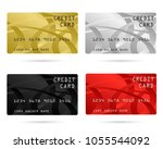 modern credit card  business... | Shutterstock .eps vector #1055544092