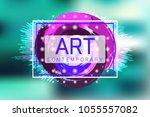 vector frame for text.... | Shutterstock .eps vector #1055557082