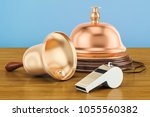 bells and whistles concept on... | Shutterstock . vector #1055560382