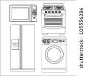 Постер, плакат: Set of Appliances contains