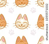 vector seamless pattern with... | Shutterstock .eps vector #1055571032