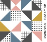 geometric pattern. abstract... | Shutterstock .eps vector #1055574485