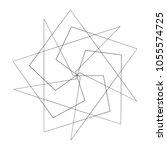 geometric pattern icon star... | Shutterstock .eps vector #1055574725