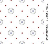 seamless silver  flower with... | Shutterstock .eps vector #1055577512