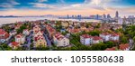 coastal city qingdao urban... | Shutterstock . vector #1055580638