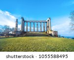 edinburgh carlton hill du... | Shutterstock . vector #1055588495