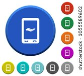 mobile services round color... | Shutterstock .eps vector #1055589602