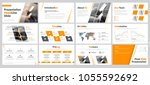 set of business slides for... | Shutterstock .eps vector #1055592692