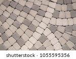 cobblestone pavement vector... | Shutterstock . vector #1055595356