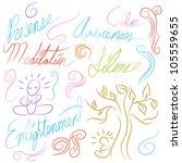 an image of a meditation symbol ... | Shutterstock .eps vector #105559655