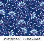 paisley oriental ornamental... | Shutterstock .eps vector #1055598665