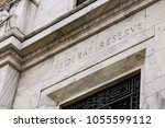 facade on the federal reserve... | Shutterstock . vector #1055599112