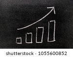 white chalk hand drawing in... | Shutterstock . vector #1055600852