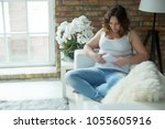 woman with a thick figure   | Shutterstock . vector #1055605916
