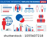 collection of infographic... | Shutterstock .eps vector #1055607218