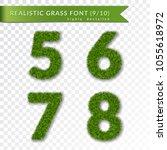 grass numbers 5 6 7 8. green... | Shutterstock .eps vector #1055618972