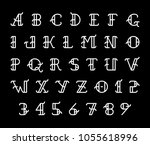 vector vintage style font and...   Shutterstock .eps vector #1055618996