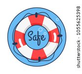 safe lifebuoy rounded icon  sea ...   Shutterstock .eps vector #1055625398
