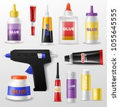 glue vector gluestick and... | Shutterstock .eps vector #1055645555