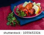 handmade tandoori grill indian...   Shutterstock . vector #1055652326