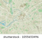 vector city map of manchester... | Shutterstock .eps vector #1055653496