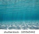 Sunlight Underwater Reflecting...