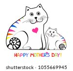 happy mother day. i love my mom.... | Shutterstock .eps vector #1055669945