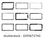 vector grunge rectangles.... | Shutterstock .eps vector #1055671742
