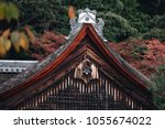 roof of japanese temple ... | Shutterstock . vector #1055674022