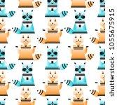 geometric stylization of fox... | Shutterstock .eps vector #1055675915