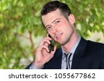 the young manager is calling | Shutterstock . vector #1055677862