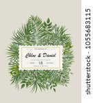 wedding invitation  rsvp modern ... | Shutterstock .eps vector #1055683115