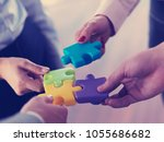 business people group... | Shutterstock . vector #1055686682