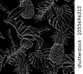 monotone black and white  ... | Shutterstock .eps vector #1055696315