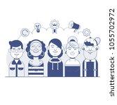 our success team linear design. ...   Shutterstock .eps vector #1055702972