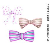 A Set Of Pink  Turquoise Bows...