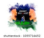 cricket championship concept... | Shutterstock .eps vector #1055716652